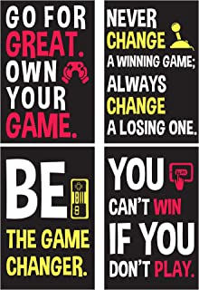 Gaming Posters For Gamer Boy - Motivational Video Game Wall Art - Room Decor For Boys – Bedroom Dorm Walls Decoration Poster Set For Guys - Cool Things For Teens - Birthday Presents For Teenage Gamers