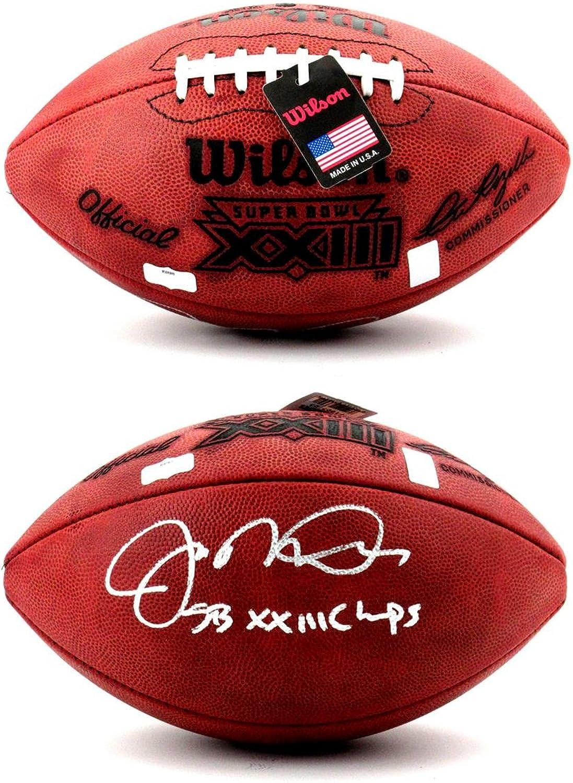 Joe Montana Autographed Ball  Throwback Authentic Super Bowl 23 SB XXIII Champs  Autographed Footballs