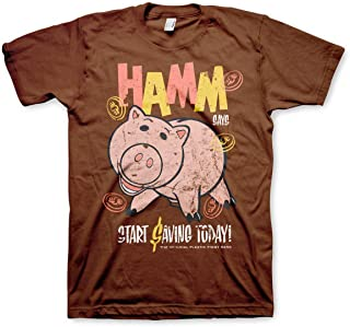 TOY STORY Officially Licensed HAMM Mens T-Shirt (Brown)