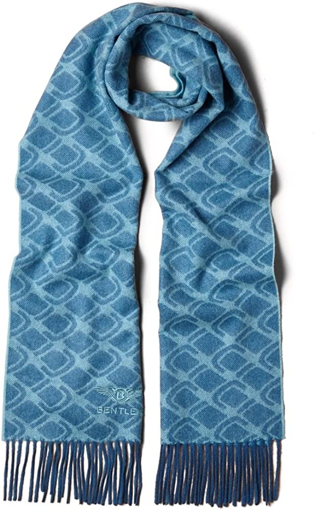 Bentley Scarves Embroidered Luxury 100% Pure Cashmere Scarves Made in UK