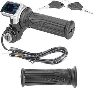 EBTOOLS Kit de poignée d'accélérateur de vélo électrique 36 V Accélérateur à demi-torsion avec indicateur de puissance LED...