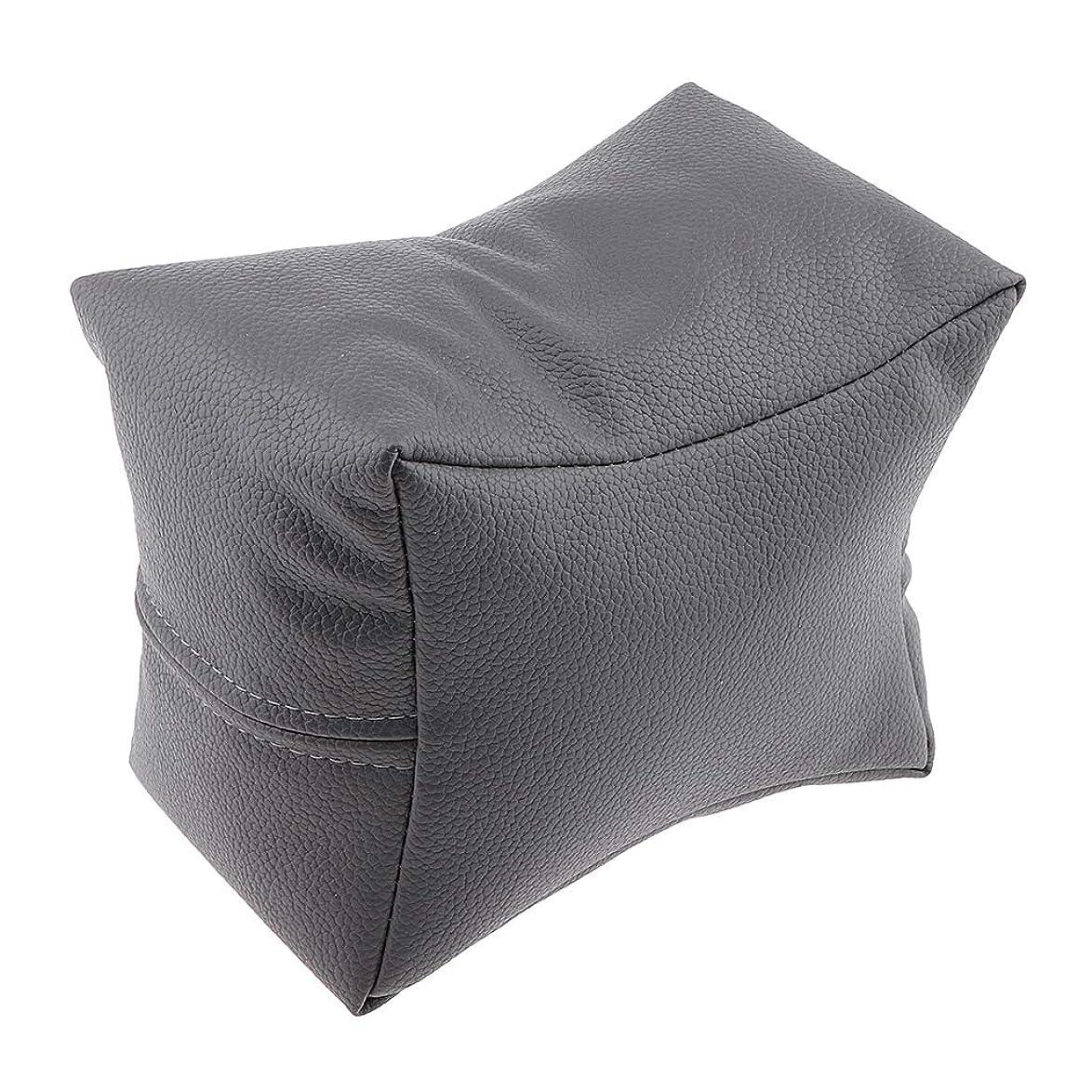 有効ほとんどないエージェントCUTICATE マニキュア ハンドレスト 手枕 ハンドピロー ハンドクッション ソフト 4色選べ - グレー