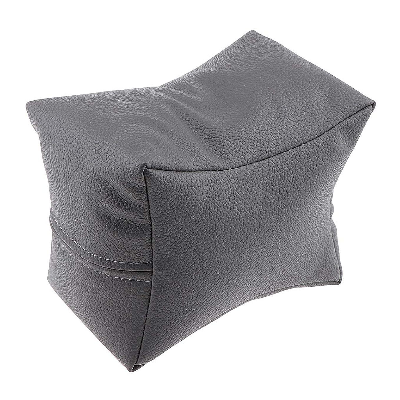 グレートバリアリーフ可塑性かみそりCUTICATE マニキュア ハンドレスト 手枕 ハンドピロー ハンドクッション ソフト 4色選べ - グレー