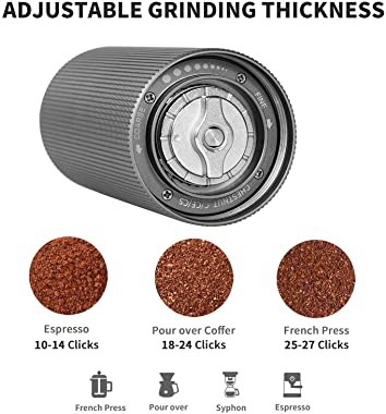 TIMEMORE Chestnut C2 MAX Manual Coffee Grinder with Adjustable Coarseness, Capacity 30g with CNC Stainless Steel Conical Burr