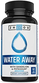 Sponsored Ad - Zhou Water Away Herbal Formula for Healthy Fluid Balance | with Dandelion, Potassium, Green Tea & More | 60...