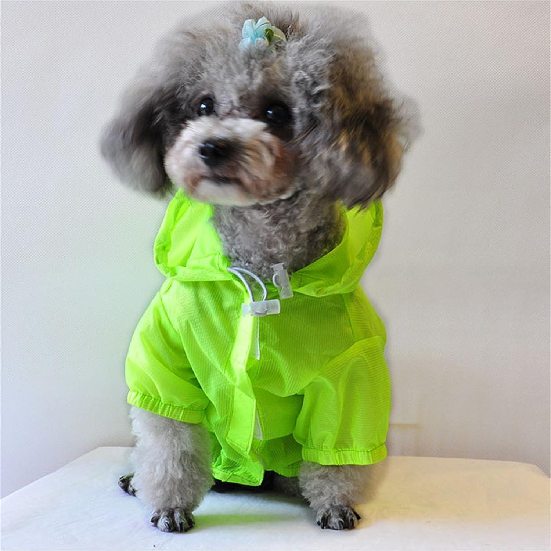 Dog Raincoat, Waterproof Transparent Pet Rain Jacket, Lightweight Rain Poncho Sun Predection For Small and Medium Dog