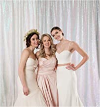 Sequin Backdrop 7ftx7ft White Iridescent Sequin Backdrop Shimmer Wedding Backdrop Newborn Photography Backdrops