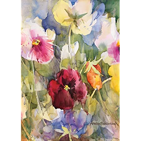 Amazon Com Toland Home Garden Pansies Posing 28 X 40 Inch Decorative Colorful Spring Pansy Flower House Flag Outdoor Flags Garden Outdoor