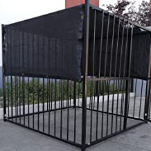 FENCESMART4U 6' X 10' Black UV Rated Dog Kennel Shade Cover, Sunblock Shade Panel, Shade Tarp Panel W/Grommets (Not The Kennel)