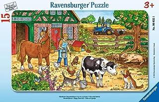 Ravensburger - 06035 - Puzzle avec Cadre - Ferme - 15 Pièces