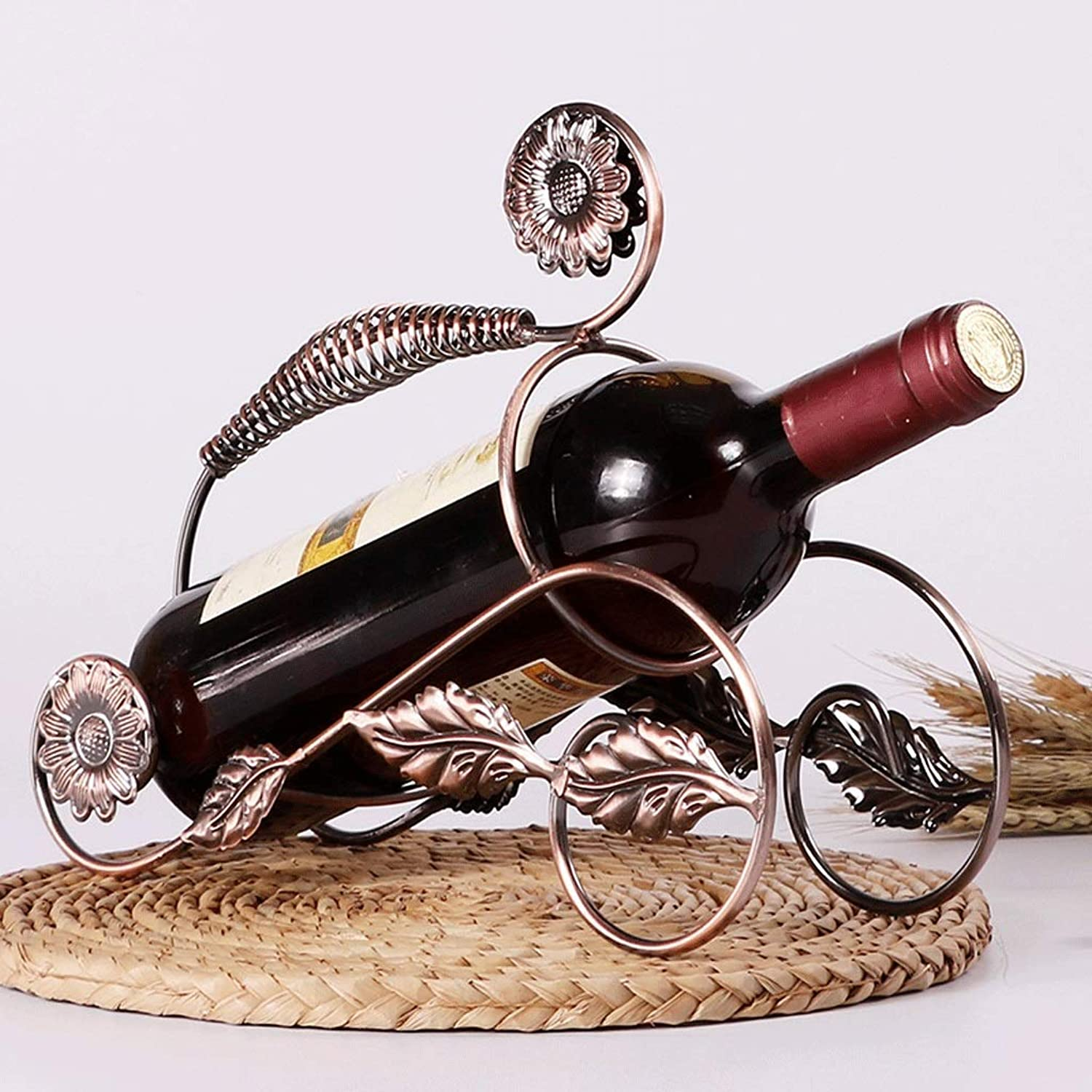 Red Wine Shelf Creative Wine Rack Decoration European Display Stand Wine Cabinet Decoration Wine Shelf Living Room Wrought Iron Bottle Rack red Wine Rack