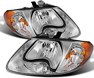 ACANII - For 2001-2007 Dodge Caravan Town & Country 01-03 Voyager Headlights Headlamps Pair Driver + Passenger Side