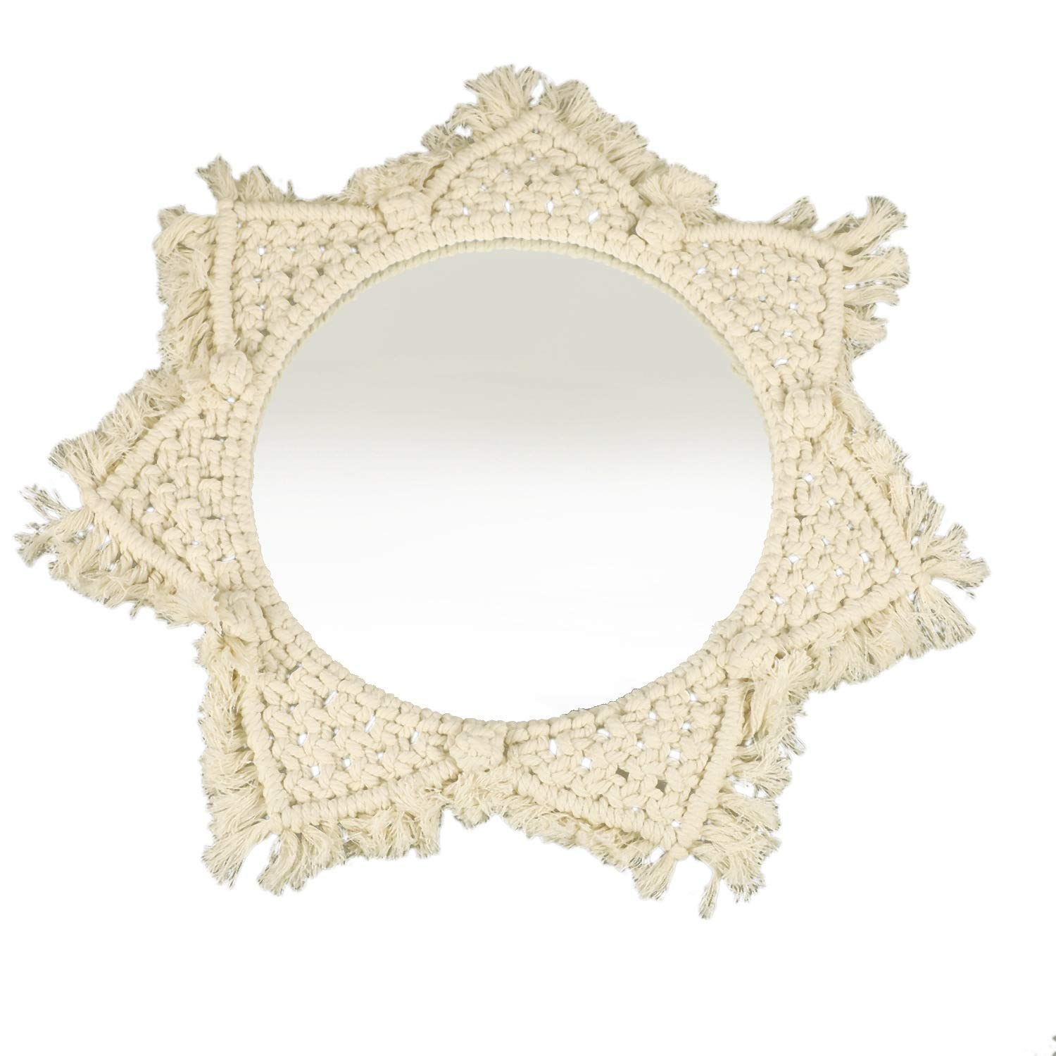 GUOCAO Macrame Mirror Handmade Now on sale Tapestry Makeup Memphis Mall Compact Ho