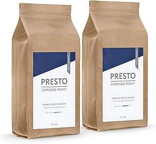 Presto,1kg (Paquete de 2 x 500g), Café Molido - Expreso de tueste medio Café Molido - 100% Arábica