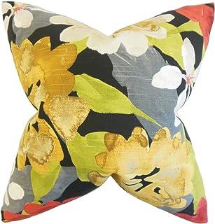 La Almohada Collection Penrose para cojín, diseño de Flores, Color Amarillo
