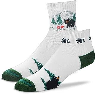 For Bare Feet Originals Novelty Fold Over Quarter Crew Socks