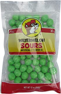 Buc-ee's Watermelon Sours Candy in a Resealable Bag, Fat Free, 12 Ounces
