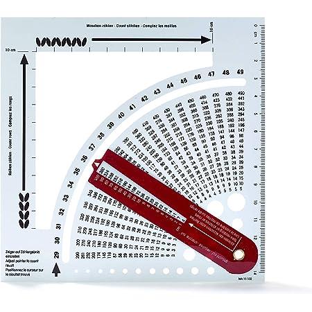 Prym 611.735 Calculatrice De Tricot, Plastic, Blanc, 15 x 15 x 1 cm