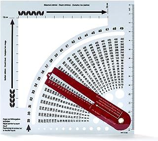 Prym 611735 Calculateur de Tricotage, Mailles et Rangs, Plastique, Blanc, 15 x 15 x 1 cm