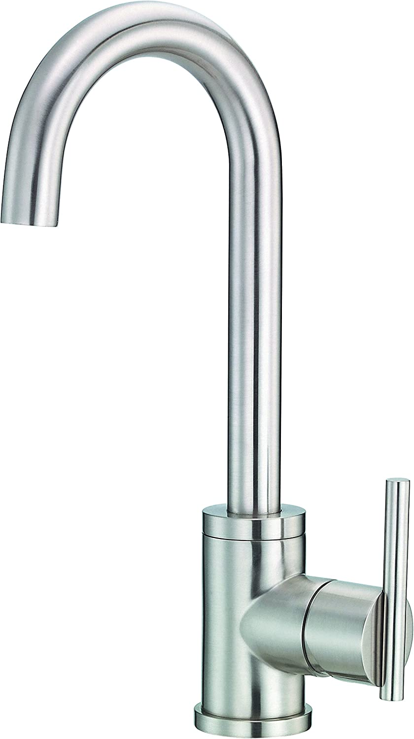Danze D150558SS Parma Single Handle Bar Faucet, Stainless Steel, Stainless Steel by Danze
