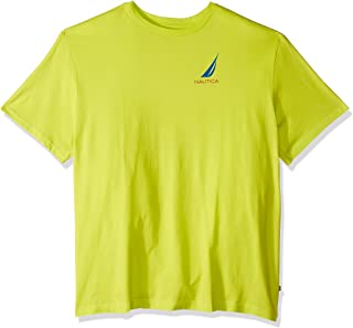 Men's Big and Tall Short Sleeve Crew Neck Fish Print 100% Cotton T-Shirt