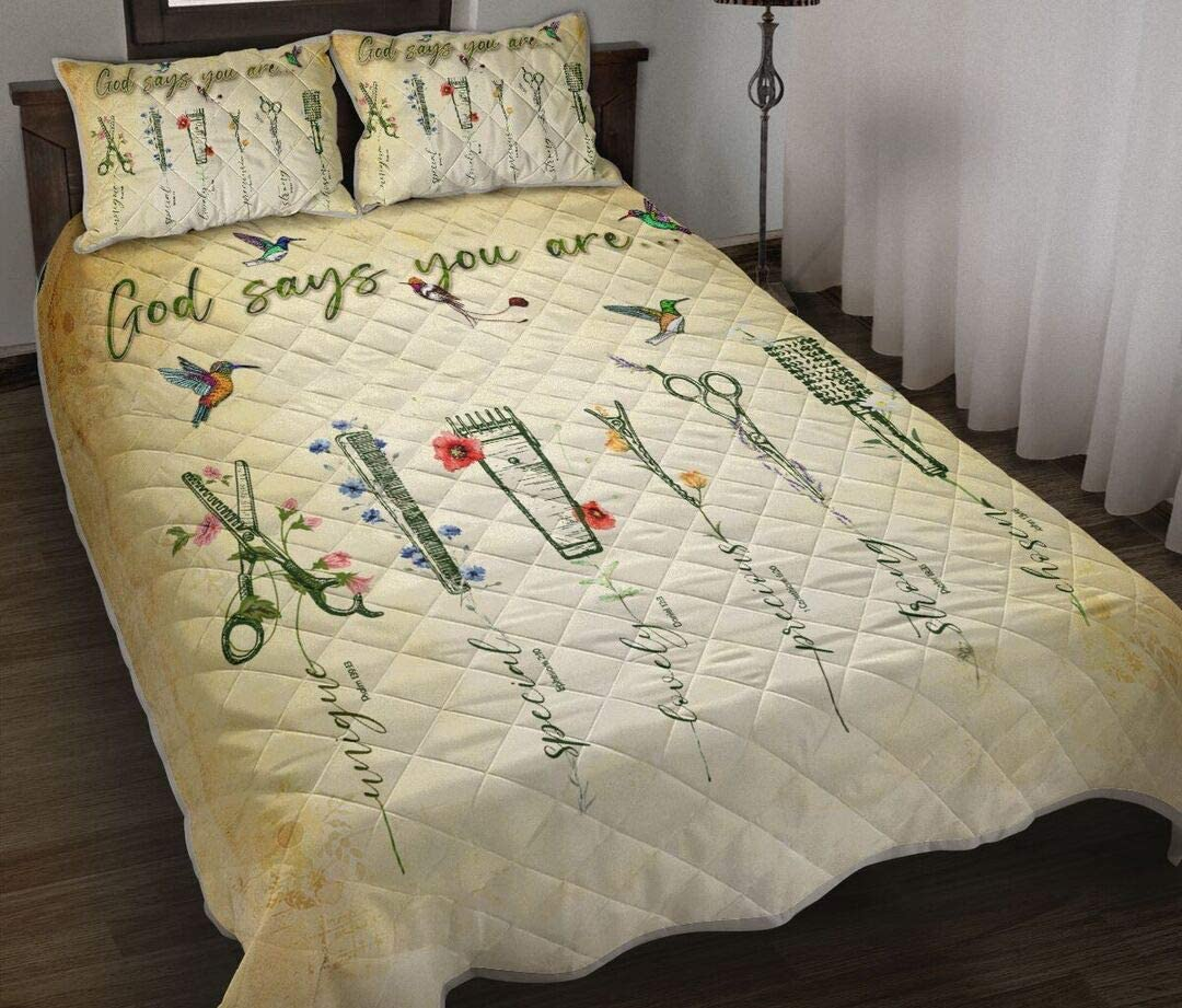 ENCYCOM Personalized Hairstylist Sale Special Price Quilt Bed K Set Award Son to Birthday