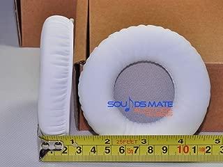 FidgetFidget Genuine Leather White Cushion Ear Pads for Pioneer HDJ 1000 1500 2000 Headphone
