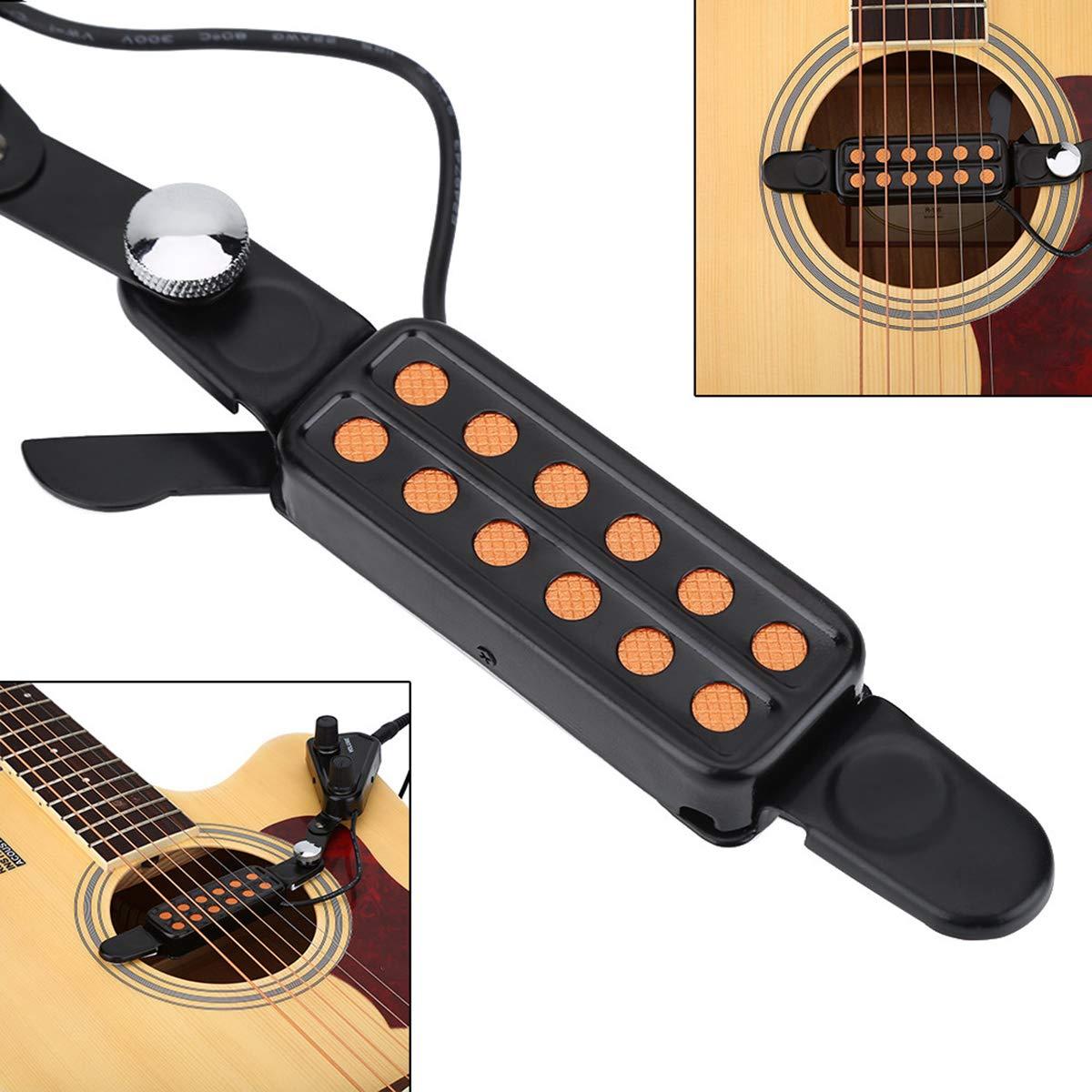 Transductor eléctrico para guitarra acústica con 12 agujeros de ...
