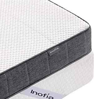 "Inofia Gelgem Memory Foam Mattress Topper (3"", Twin)"