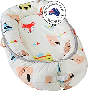 Little Archer & Co.™ Newborn Baby Nest - Easy to Move, Ideal for Co-Sleeping, Breathable and Soft, 100% Cotton and Eco-Fri...