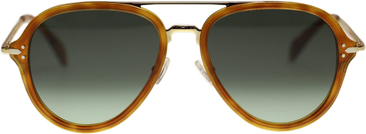 Celine Unisex Sunglasses CL41374 UFP Light Havana gold Aviator 54mm Authentic