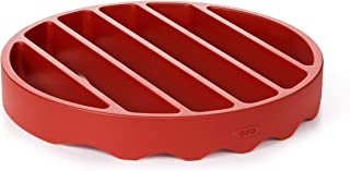 OXO 11237200 Good Grips Pressure Cooker Rack, Silicone, Red (Renewed)