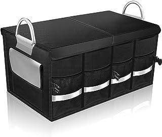 車用収納ボックス トランク 収納 蓋付き 大容量 折り畳み式 防水 滑り止め カー用品 便利グッズ ラゲッジルーム 収納 黒 60L