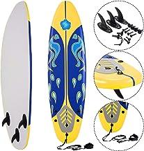 Giantex 6' Surfboard Surfing Surf Beach Ocean Body Foamie Board with Removable Fins,..