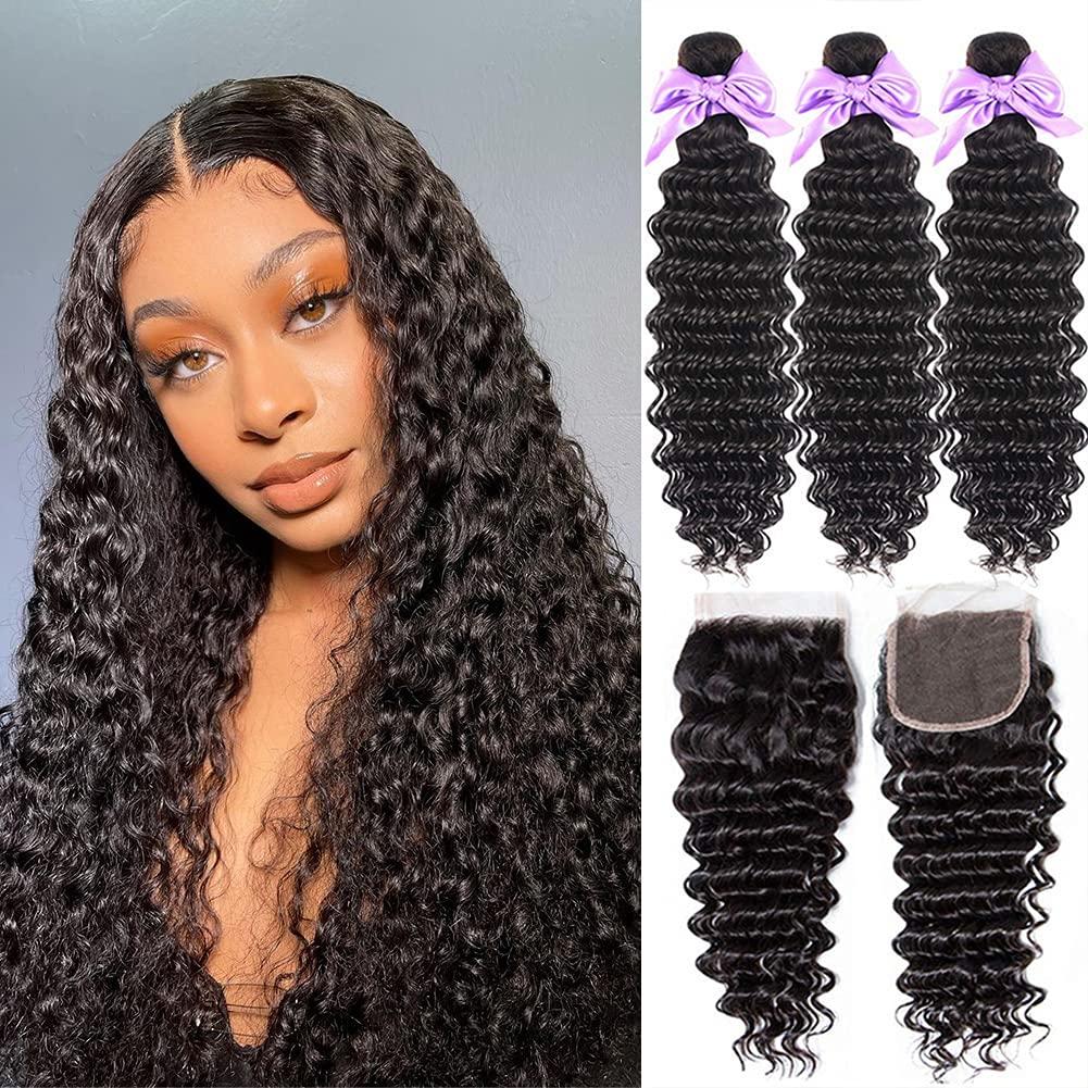Veravicky Deep Deluxe Ranking TOP18 Wave Human 3 Bundles Hair