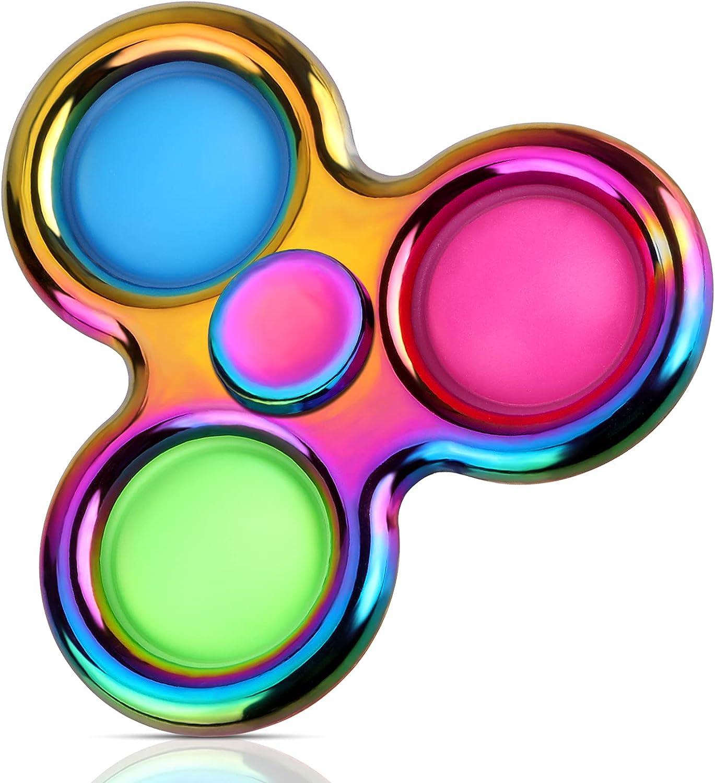 Aemotoy Dimple Fidget Spinner Toy Push Bubble Fidget Sensory Toy