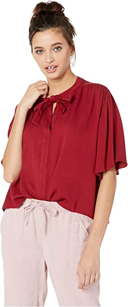 Float Arm Tie Neck Top