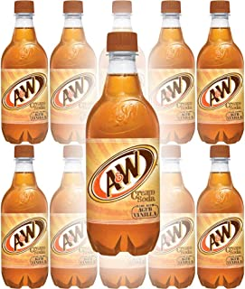 A&W Cream Soda, Made With Aged Vanilla, 20 Fl Oz Can, (Pack of 10, Total of 200 Fl Oz)