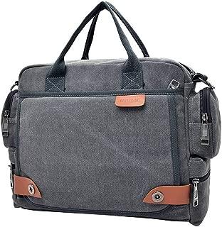 YiyiLai Men Leisure Business Canvas Crossbody Shoulder Bag Handbag