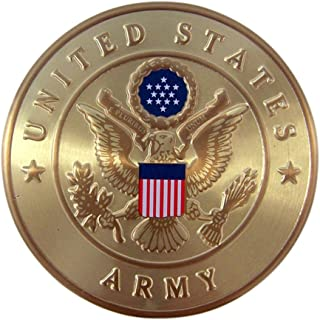 United States Army Military Metal Auto Decal Emblem, 2 Inch