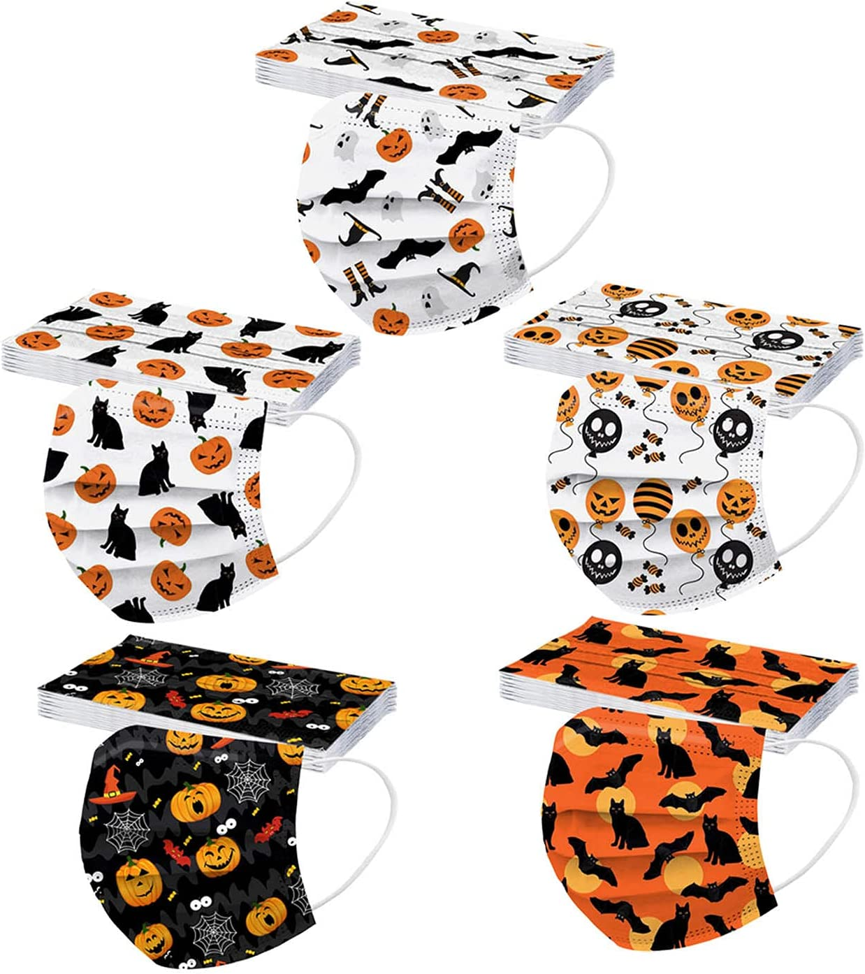 50 Max 84% OFF Pcs Kids Disposable Face_Masks f Trust Printed Halloween Facemasks
