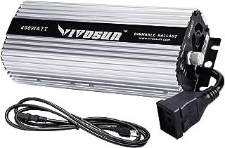 VIVOSUN 400 watt Dimmable Digital Ballast for HPS MH Grow Light, Soft Start Program & Stable Performance (Space Gray)