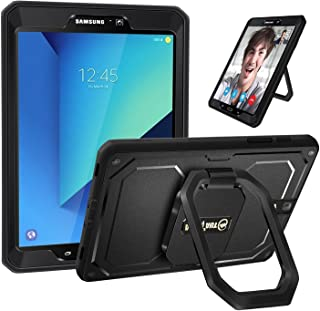 Fintie Shockproof Case for Samsung Galaxy Tab S3 9.7, [Tuatara Magic Ring] 360 Rotating Multi-Functional Grip Stand Cover Built-in Screen Protector for Tab S3 9.7(SM-T820/T825/T827) 2017 Release,Black