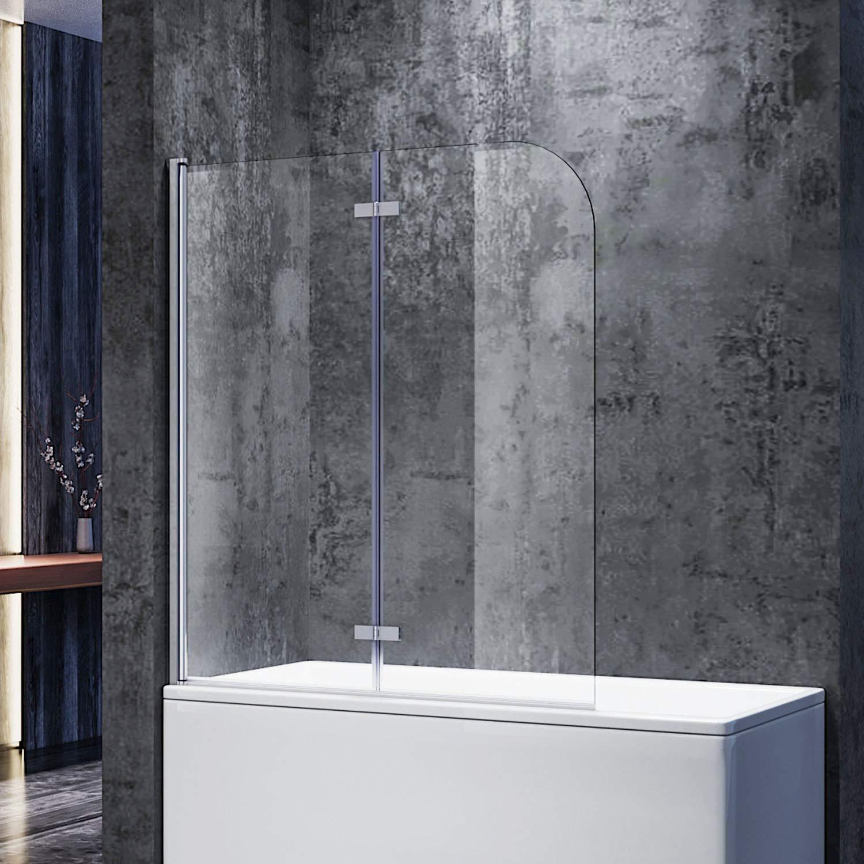 SONNI Duschwand für Badewanne 200x200 cmBxH badewannenfaltwand 20 ...