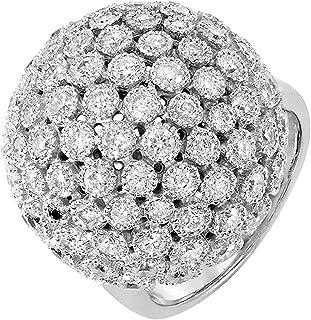 Dazzlingrock Collection 3.25 Carat (ctw) 14k Round Diamond Ladies Cocktail Ring, White Gold
