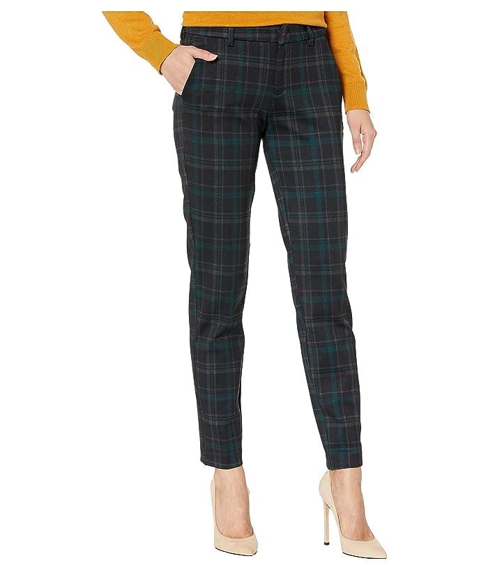 Liverpool  Kelsey Knit Trousers in Tartan Plaid Knit (Black/Evergreen) Womens Casual Pants