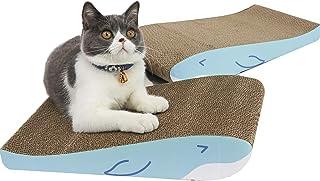 ComSaf 猫 つめとぎ 爪とぎ 段ボール ベッド 猫スクラッチゃー 2枚入り 高密度 両面使える 43×26×8cm(幅X奥行X高さ)