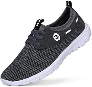 Men's Lightweight Slip On Mesh Sneakers Outdoor Athletic Running Shoes Casual Sport Shoes