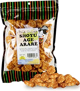 Shoyu Age Fried Arare Rice Crackers 6 Ounce - Perfect on the go snack. Add to popcorn or trail mix. Packed fresh in Hawaii. Sweet and salty flavor profile