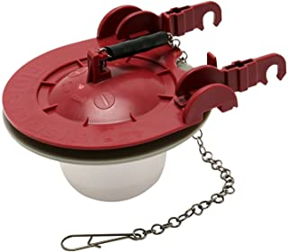 """Fluidmaster 5403P4 5403 3-Inch Universal Water Saving Long Life Toilet Flapper, 3"""", Red"""